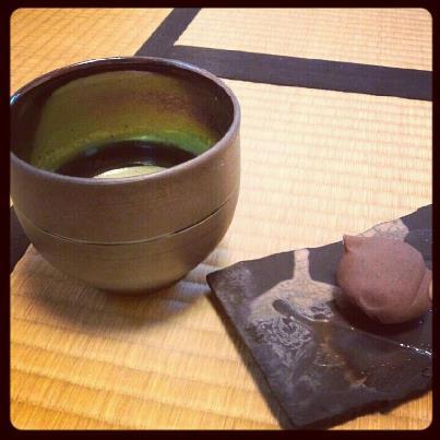 朝の一服 金理有@大阪 宇宙十職「海王星茶碗」
