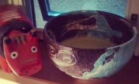 朝の一服 苫米地正樹@三重 宇宙十職「地球茶碗」