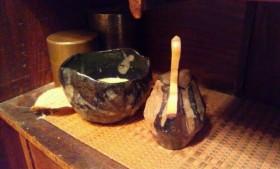 朝の一服 近藤俊太郎 造 茶碗、茶入、茶杓オール自作!?(笑)
